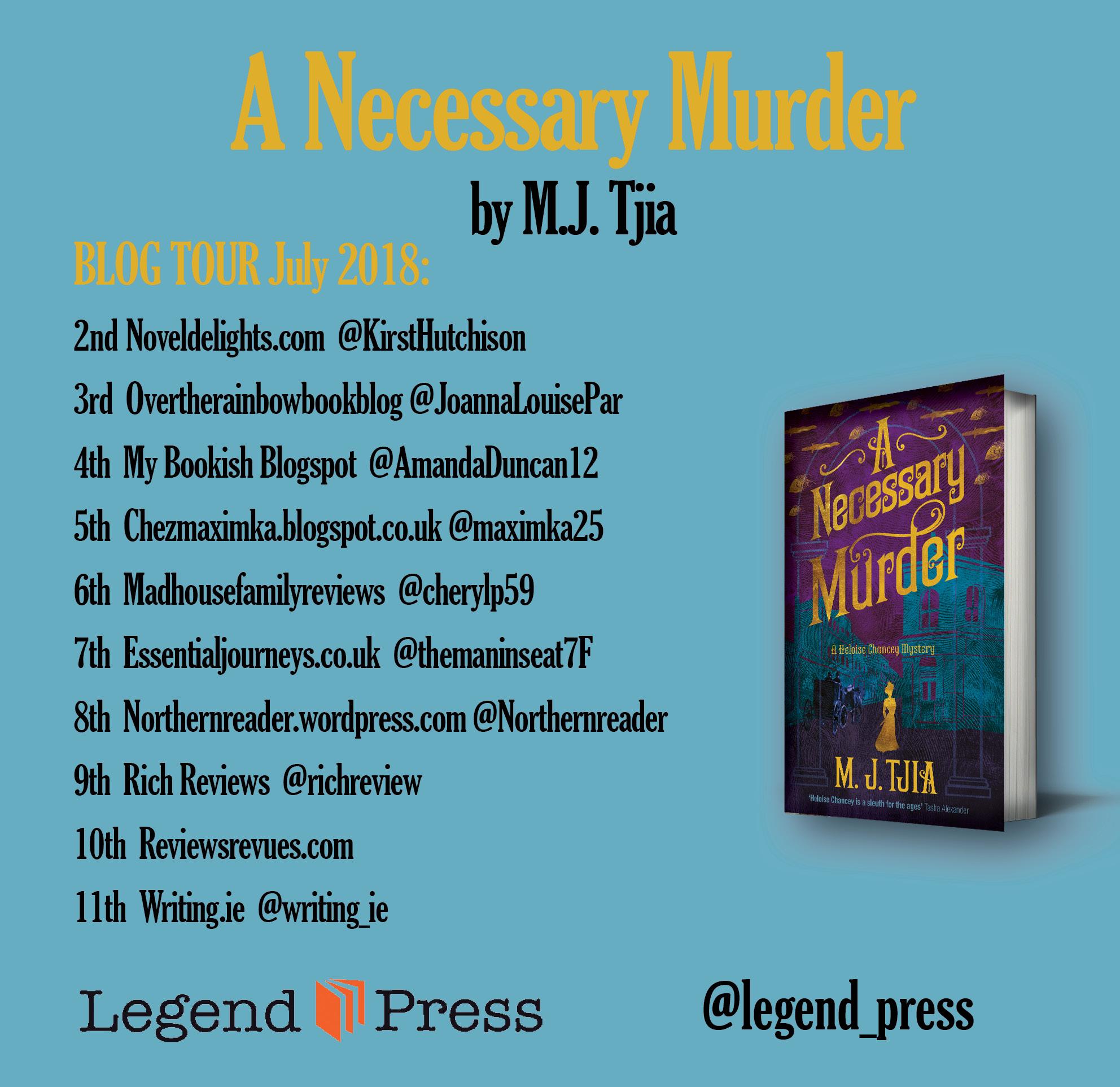 A Necessary Murder blog tour